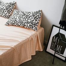simple 100% cotton  star stripes sheet pillowcase 3pcs black and white bedding set Quenn size bed sheet set 2 0m 3pcs simple solid colour bed sheet set