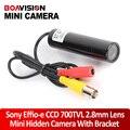 Hd mini bala impermeável ao ar livre 700tvl sony effio ccd color wide angle 2.8mm câmera de cctv segurança para 960 h dvr