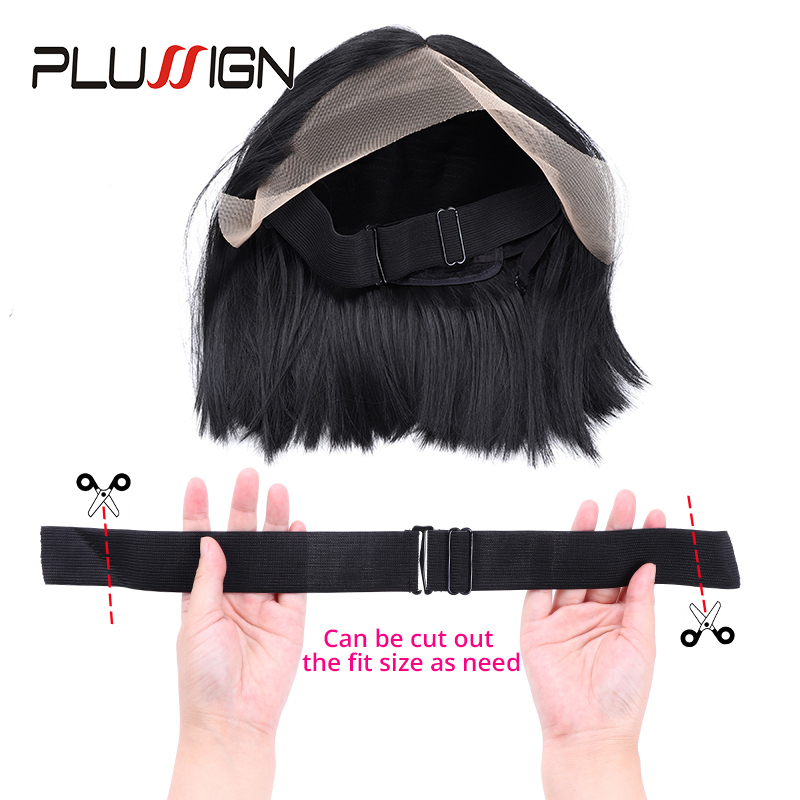 Plussign New Wig Band Adjustable Elastic Band For Making Wigs 2.5Cm 3.5Cm Width Two Style Black Wig Making Tools