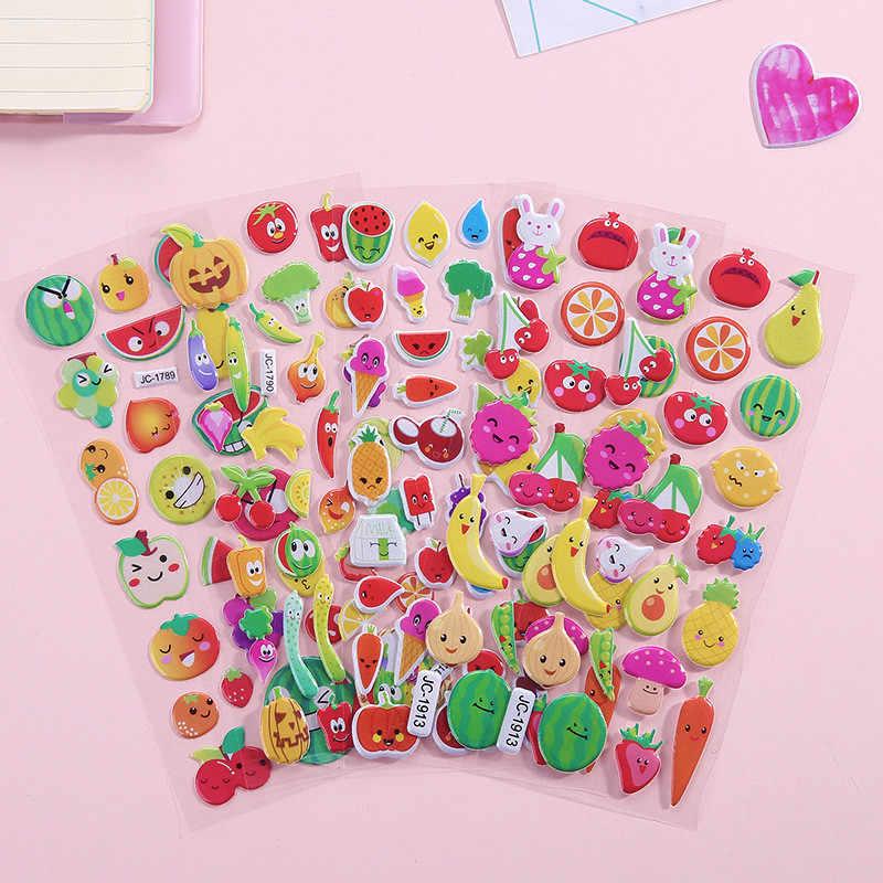 Wodoodporna 3D Cartoon naklejka na ścianę zwierzę Bubble naklejki DIY zabawki dla dzieci dla dzieci chłopiec dziewczyna dekoracja pokoju naklejki ścienne naklejki