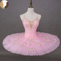 FLTOTURE Girls Ballet Pink Tutu Professional Performance Tutu Skirts XW1007 Ballet Competiton Costumes Tutu Dresses For Women