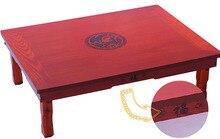 Корейский ножки стола Складной Прямоугольник 70*50 см Мебель для гостиной Азиатский Античная Чай таблицы традиционный Стиль пол деревянный стол