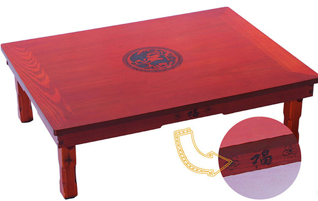 Superior Korean Table Legs Foldable Rectangle 70*50CM Living Room Furniture Asian  Antique Tea Table Traditional