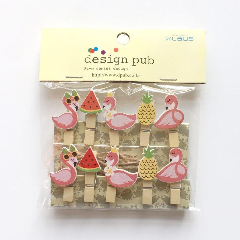 10 ps Eenhoorn Flamingo Party Decoratie DIY Fotolijst Mini Houten Clip Baby Shower Verjaardagsfeestje Decoraties Kids Volwassen Gunsten 2