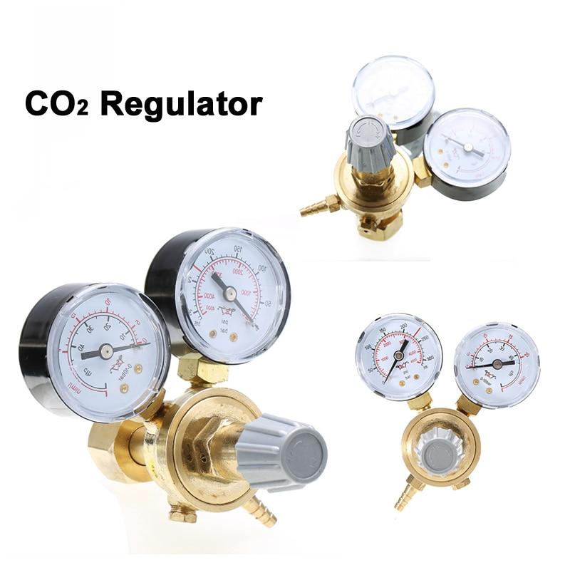 Brass CO2 Argon Meter Reductor Carbon Dioxide Regulator Mini Pressure Reducer Mig Flow Control Valve Used For Welding Or MAGValve   -