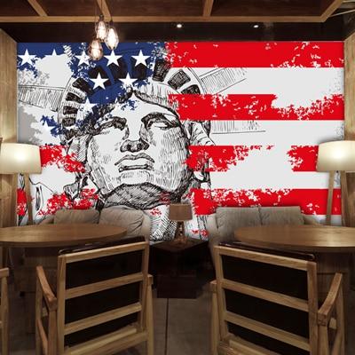 Grosse Europaische Art Und New York Freiheitsstatue Graffiti Mural 3d