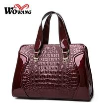 2016 Women Leather Handbags Crocodile Pattern shoulder bag Famous Designer Brand Luxury Women messenger bag Tote Top-Handle Bags