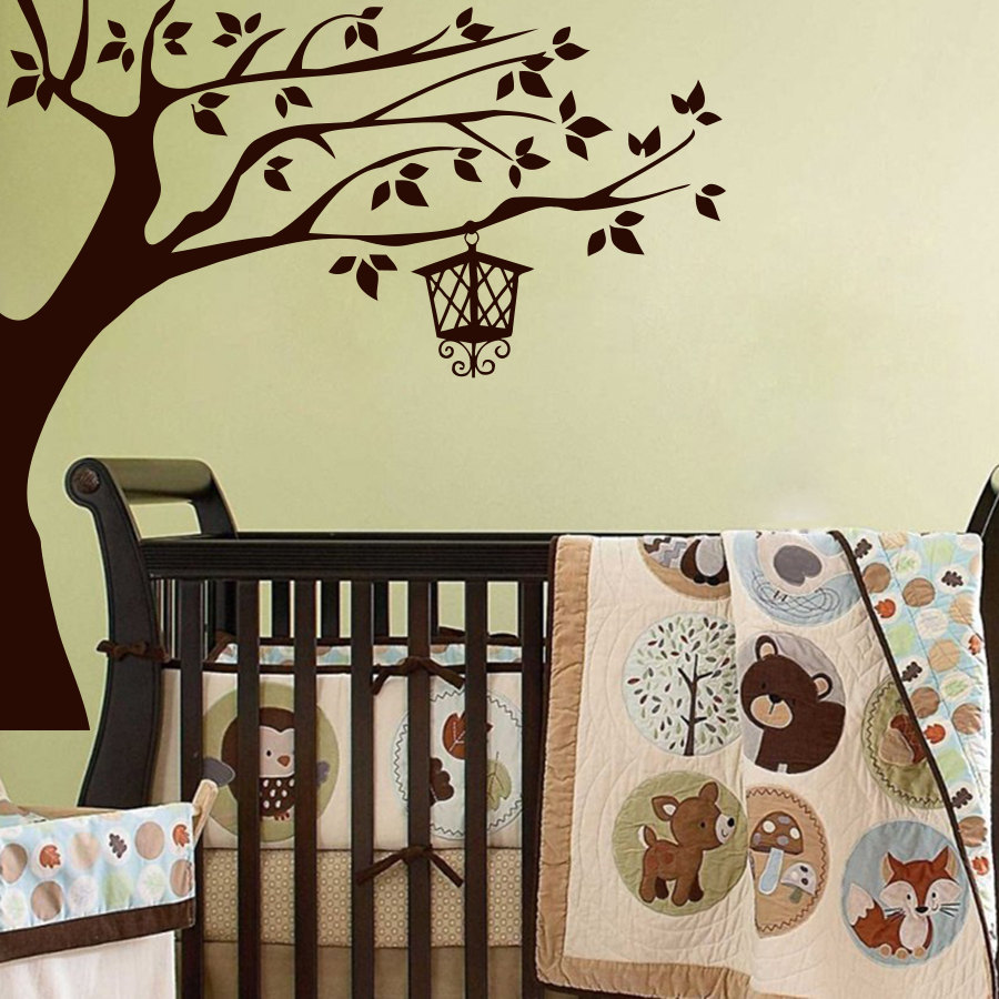 online get cheap baby nursery wall decor stickers aliexpress com most popular tree branch lamp wall decals vinyl art sticker babys bedroom nursery wall decor murals