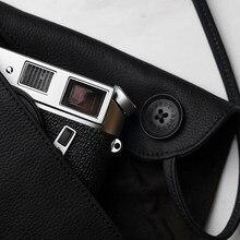 Yeni dürüst ARTISAN el yapımı hakiki deri kamera çantası çantası