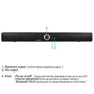 Image 4 - LONPOO новейший Bluetooth динамик Портативный Саундбар звуковая панель HIFI Саундбар динамик для компьютера ПК телефон