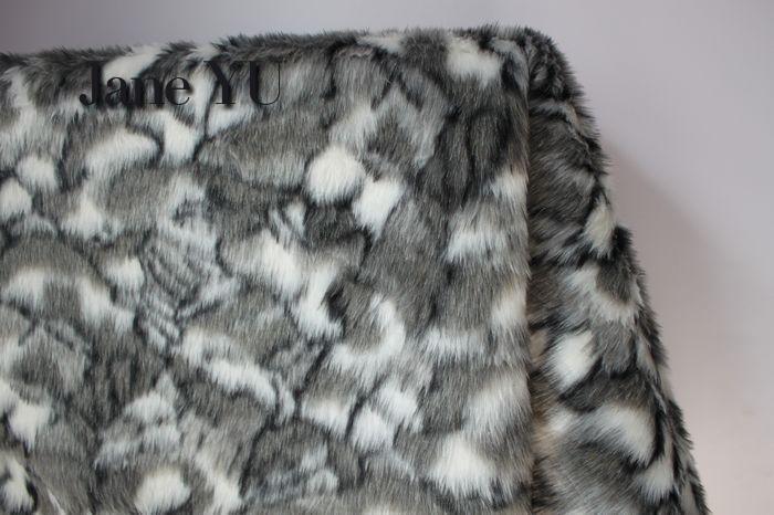 JaneYU 2cm stone pattern plush fabric faux fur clothing vest shawl decorative 50x150cm