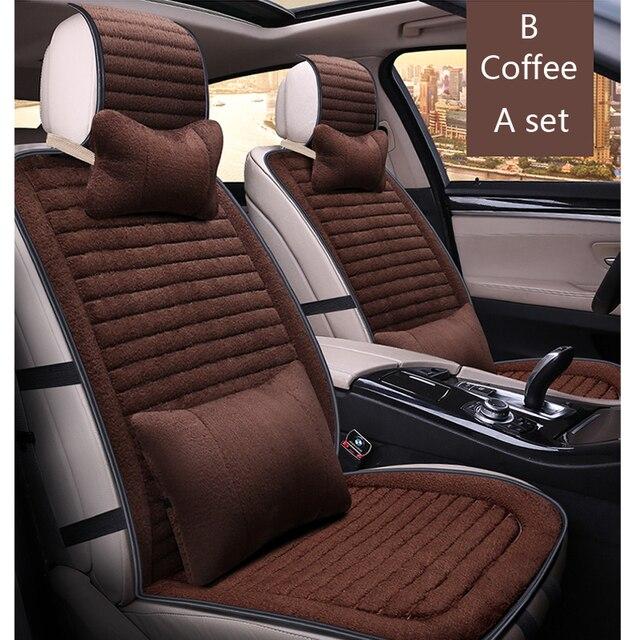 Universal Luxury Car Seat Covers Set Faux Fur Cute Car Interior