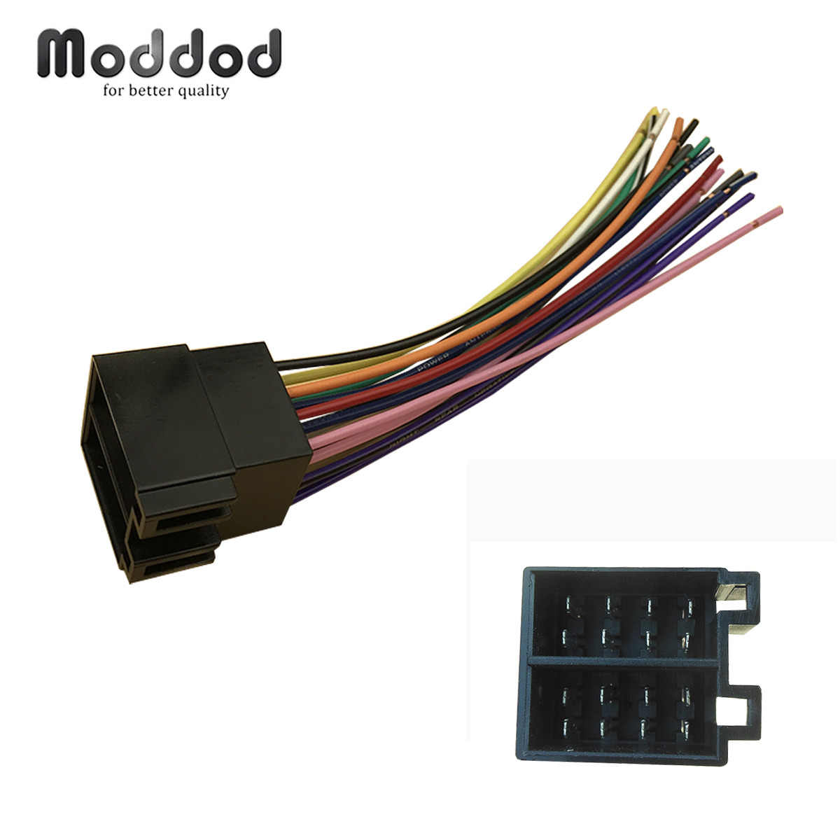 universal iso radio wire wiring harness for volkswagen citroen audi ford focus dodge adapter connector plug [ 1200 x 1200 Pixel ]