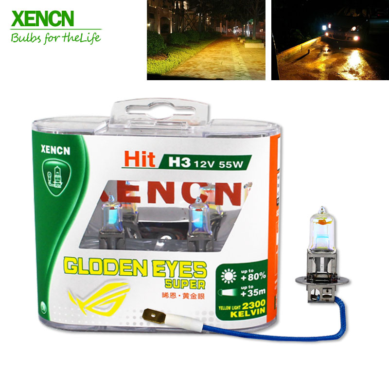 XENCN 12V 2300K Golden Eyes Super Yellow Bright Car Halogen Headlights Off Road Used Car Lighting Source H1 H3 H4 H7