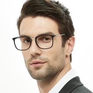 Image 4 - קוריאני אופנה עין נקה עדשת משקפיים אופטיים שחור כחול Eyewear מסגרות מחזה לגברים OCCI CHIARI OC2002
