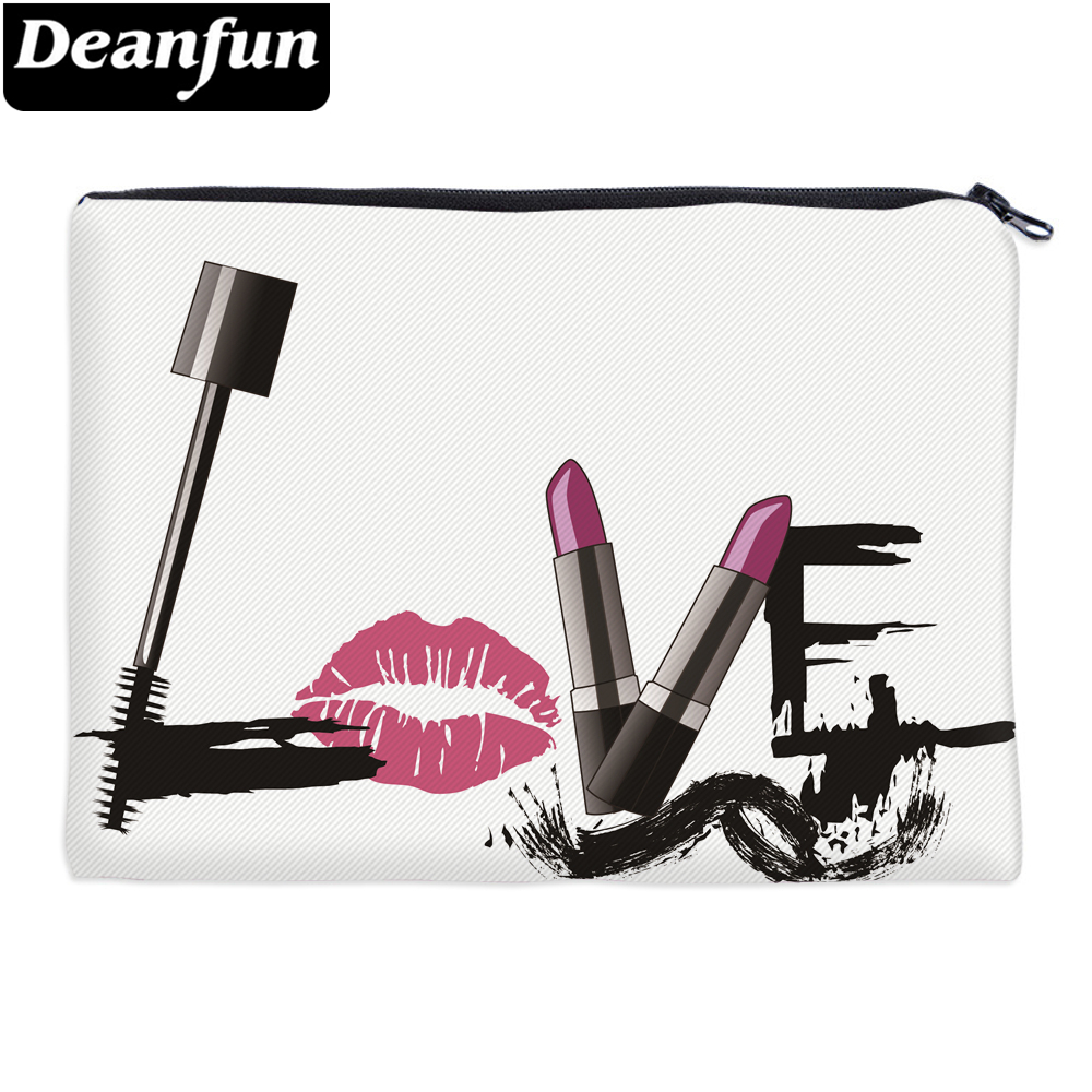 Deanfun Women Cosmetic Bags Letter 3D Printing LOVE Fashion Makeup Organizer for Travelling Dropshipping 85033 unicorn 3d printing fashion makeup bag maleta de maquiagem cosmetic bag necessaire bags organizer party neceser maquillaje