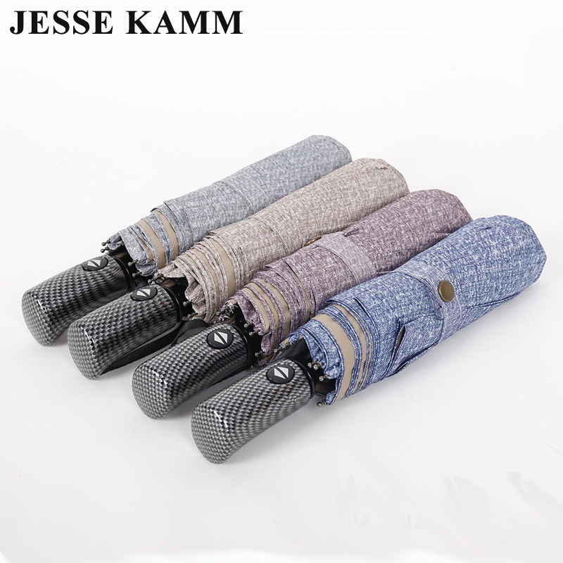 JESSE KAMM New Fully Automatic Big Large Strong Two People For Women Men Rain Compact Folding Drop Shopping Gentles Umbrellas