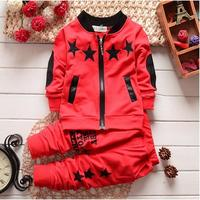 2017 New Spring Autumn Baby Boy Clothing Set Boy Sports Suit Set Children Christmas Outfits Girls