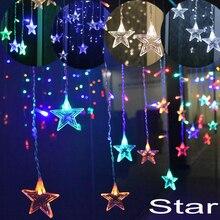 5 м Рождественская гирлянда светильник s наружное украшение отвисает 0,4-0,6 м занавес сосулька Сказочный струнный светильник садовый сценический декоративный светильник s
