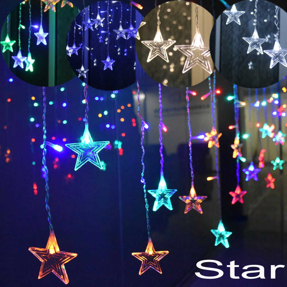 5m Christmas Garland Lights Outdoor Decoration Droop 0.4-0.6m Curtain Icicle Fairy String Light Garden Stage Decorative Lights