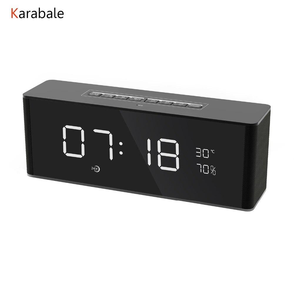 Karabale Stereo Speakers Alarm-Clock Computer Phone Fm Radio Super-Bass Portable Wireless