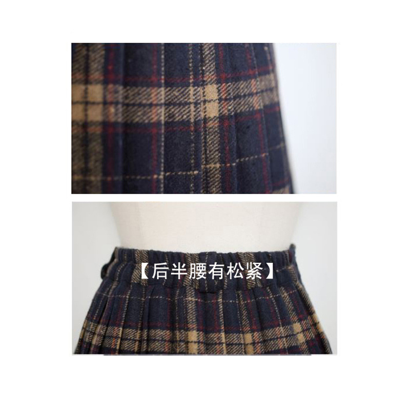 HTB1VW63NFXXXXaYapXXq6xXFXXXv - FREE SHIPPING Pleated skirt plaid bodice short skirt JKP093