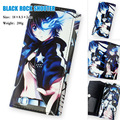 Colorful Japan Anime BLACK ROCK SHOOTER long style PU wallet