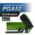 FreeShipping! PGA52 Professional Kick Drum Bass Instrument Dynamic Microphone PGA Sound System For Stage Show Studio New Boxed!!