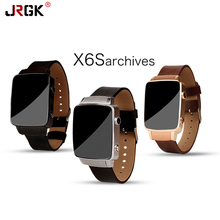 JRGK Reloj X6S Inteligente Reloj HRM ritmo cardíaco Bluetooth Genuino Real Con cámara Para Android IOS Soporte de tarjeta SIM PK D3 G3 G4 G5