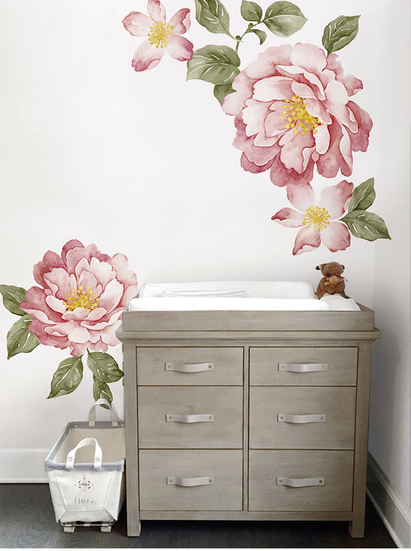 Peony Flowers Wall Sticker 21