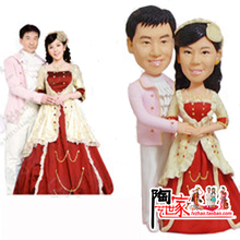 2016 custom polymer clay cake topper from your photos wedding decoration casamento decoration valentine's day gift frozen party