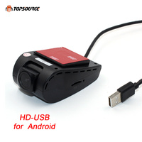 TOPSOURCE Car DVR Camera USB DVR Camera for Android 4.2 / 4.4 / 5.1.1/6.0 Driving Recorder Mini 170 Degree Wide Angle Lens