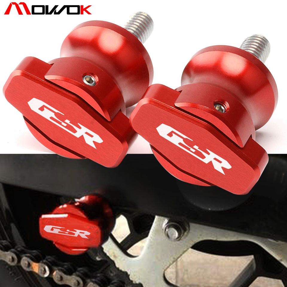 8mm CNC aluminum swingarm spools sliders Bobbin For <font><b>Suzuki</b></font> <font><b>GSR</b></font> <font><b>600</b></font> 2006 2007 <font><b>2008</b></font> 2009 2010 <font><b>GSR</b></font> 750 2011 2012 2013 2014 image