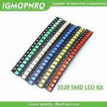5 цветов по 20 шт. = 100 шт. 3528 1210 SMD светодиодные комплекты красный желтый синий зеленый белый светоизлучающие диоды люминесцентная трубка