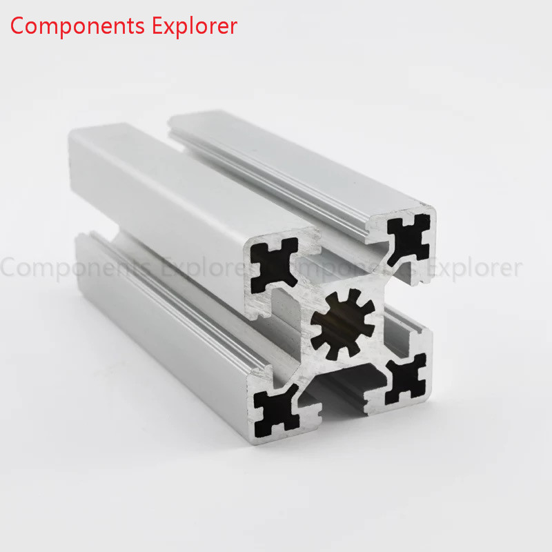 Arbitrary Cutting 1000mm 4545W Aluminum Extrusion Profile,Silvery Color.