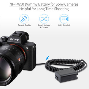 Image 4 - FEELWORLD F5 MA5 F6 A6 NP FW50 Factice Batterie Compatible avec Sony a6000 a6100 a6300 a6500 A7 A7S A7R a7 II a7S II a7R II Caméra