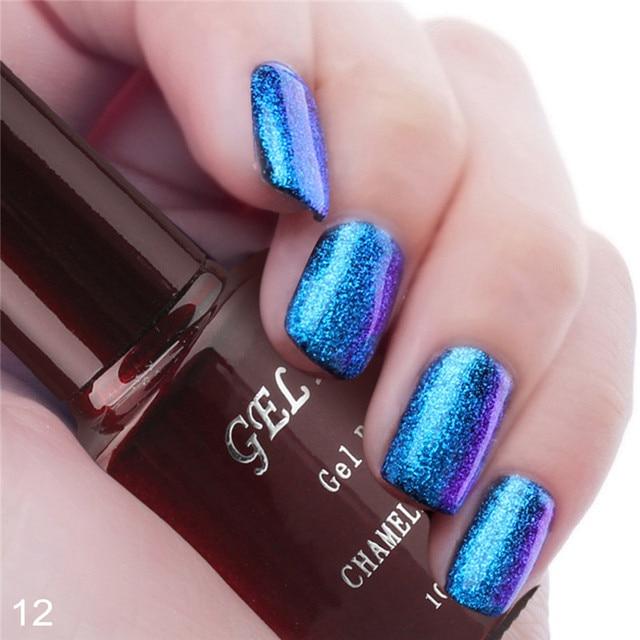 Gel Len 1pcs Led Chameleon Change Nail Gel Polish and Pure Black Gel Varnish DIY LED Long Lasting UV Soak Off Gel Nail Polish