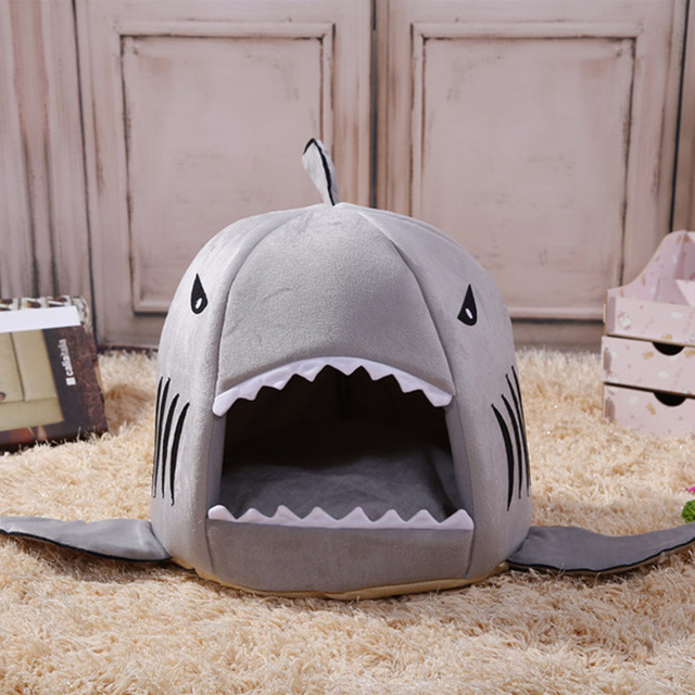JORMEL 3 Tamanhos 5 Cores Produtos Para Animais de Estimação Casa de Cachorro Quente Macio Saco de Dormir Pet Tubarão Canil Gato/Cão casa cama de Gato