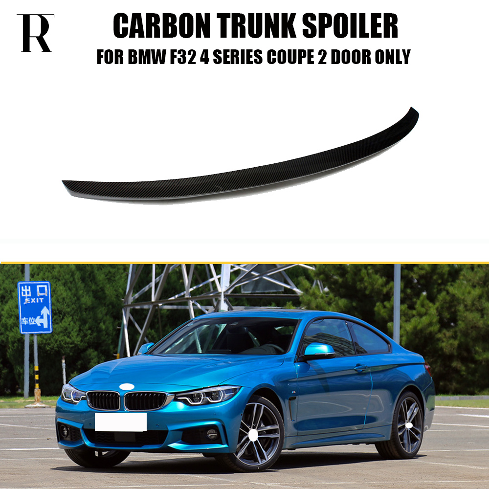 F32 M Performance Style Carbon Fiber Rear Wing Spoiler for BMW F32 420i 428i 430i 435i 440i 420d 425d 430d 435d Coupe 2 Door f32 f33 f36 carbon fiber rear bumper lip diffuser spoiler for bmw f32 f33 f36 420i 428i 435i 420d 428d 435d m tech m sport