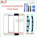 Melhor qualidade para samsung galaxy a5 a510 2016 frente vidro touch screen digitador lente de vidro com adesivo