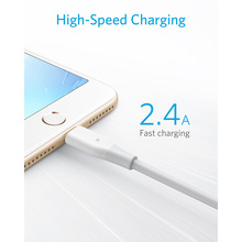 Anker PowerLine Micro USB Cable/Lightning Cable  MFi Certified Durable Fast Charging Braided for iPhone iPad Samsung Android etc