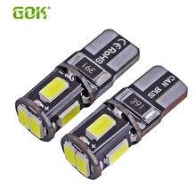 Супер яркий! 10X T10 W5W led canbus T10 194 168 5630 t10 6SMD Canbus без ошибок 12 В автомобильные лампы, световой индикатор, парковочная лампа