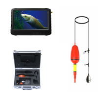 30m Long Transmission Range 2017 New 6 Patents Wirelss Transmitter Float Fish Finder Camera with Sunshade 5 LCD Monitor