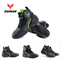 2018 Winter Motor travel equipment DUHAN Motorcycle riding shoes Off road Motorbike boots Racing booties Anti fall Breathable