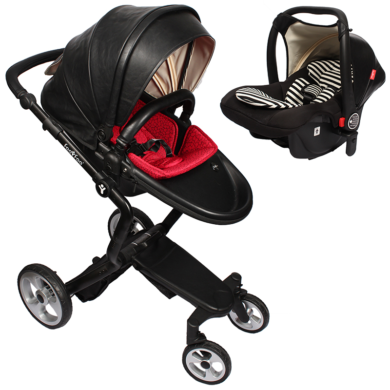 foofoo Luxury high landscape shock strollers can sit reclining stroller baby stroller two-way dual summer with car seet luxury high landscape shock strollers can sit reclining stroller baby stroller two way dual summer
