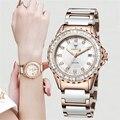 Женские часы от роскошного бренда CADISEN  золотистые керамические часы с ремешком  автоматические кварцевые часы с сапфировым кристаллом  вод...