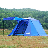 Outdoor double layer automatic aluminum rod speed open free to build 3 4 people family self driving field big tents