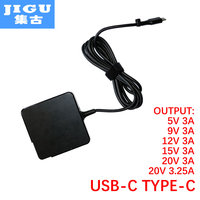 JIGU Fast Charger Type-C Power Adapter 65W 5V3A 9V3A 12V3A 15V3A 20V3.25A 20V3A for MacBook Pro Laptop Tablet Phone USB-C Device