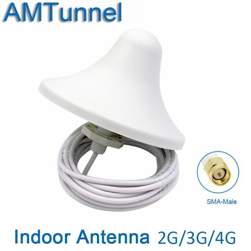 2g 3g innen decke antenne GSM LTE1800Mhz 4g omni antenne WCDMA UMTS2100Mhz antenne 5dBi mit 5 mt kabel SMA stecker