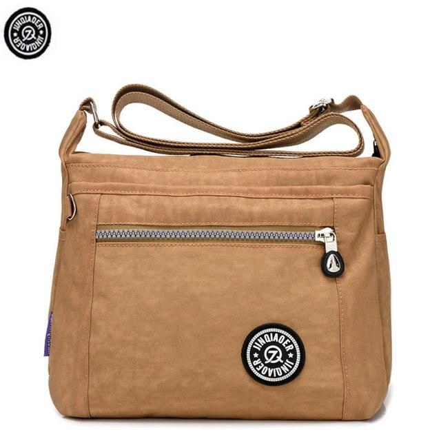 Original Jinqiaoer Women Canvas Bag Casual Travel Bolsa Masculina S Crossbody Messenger Bags Handbag